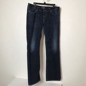 """Silver Aiko Mid Slim Boot Jeans Waist 35"""""""